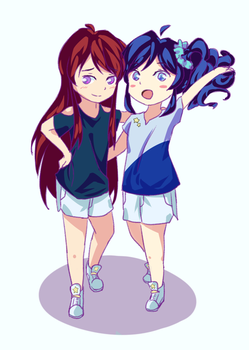 Ran and Aoi~ by AngelJas