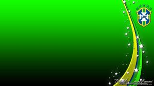 Brasil CBF Wallpaper Green by renatofraccari