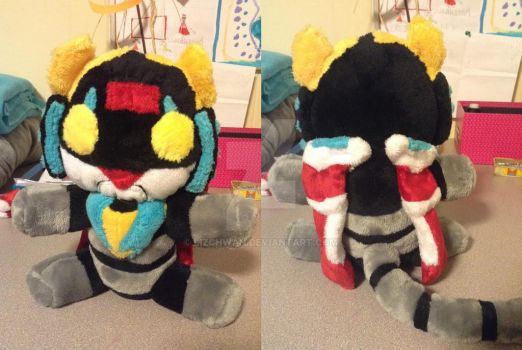 Voltron Black Lion Custom Plushie by LizChwan