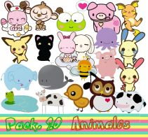 "Pack. 20 ""Animales"" by MayruuGomez"