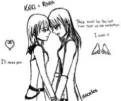 KaiRinoa sketch -yuri implied- by ssceles
