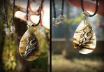Dracolich amulet pendant rutilated quartz by NarmeShade