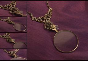 The Lady's Monocle Necklace by hrekkjavakaastarkort