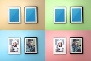 FREE Colourful Frame PSD Mockup by Layerform