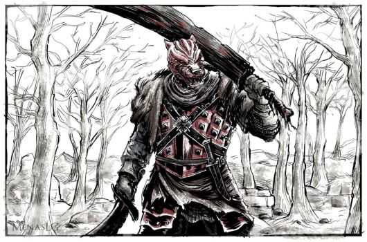 Dark Souls 2: Vengarl of Forossa by MenasLG