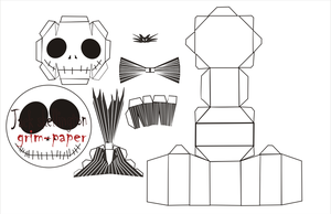 jack skellington chibi pattern by Grim-paper