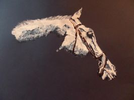 Horse on Blue Paper by maja135able