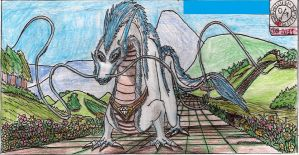 Eastern white dragon by Ikro2009