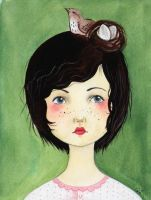 Her hair is a birds nest by shishah