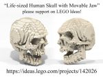 LEGO Ideas human skull by Steam-HeART