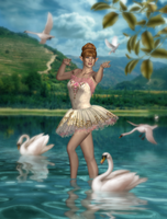 The Swans by CaperGirl42