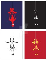 Minimalist Spider-Man Set by M-Watts-Art