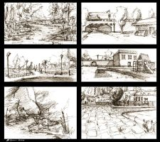 Landscape Sketches by LoccoRico