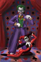 Harley and Joker by green-sheepy