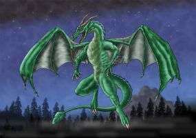 Plot, the green dragon by Psydrache