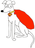Santa's Little Helper As Krypto The Superdog by darthraner83