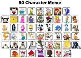 My Top 50 Favorite Characters by rabbidlover01