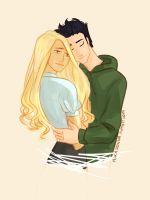 Percabeth hug! by Nikadonna