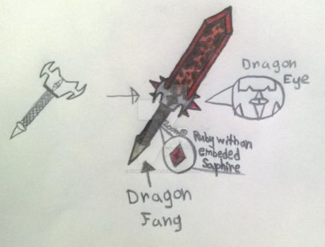 Draconian Pyrocrite Long sword by hightech2424