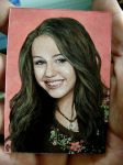 Miley in oils 2.5 x 3.5 inches by Splitlipgypsy