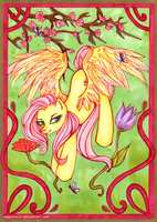 Mucha Posters: Fluttershy by MadBlackie