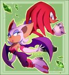 Rouge and knuckles - treasure hunters by Shira-hedgie