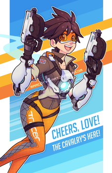 Cheers Love - Tracer [Overwatch] by marcotte