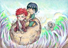 Lee and Gaara by lilacerise
