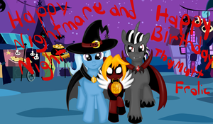 Happy Nightmare Night and Happy Birthday by Rayodragon