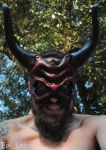 Bloodstone Greater Demon Leather Mask 3 by Epic-Leather