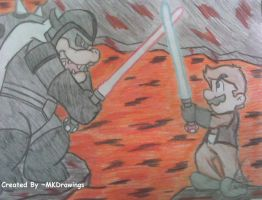 Star Wars - The Battle by MKDrawings