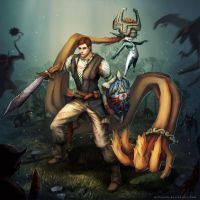 Commission: Zach and Midna by MilicaClk