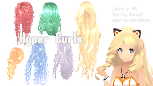 [MMD Parts] - Hair - Hyper Curls by ColorsOfOrion