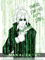 Matrix K-san for Josh by MerianMoriarty