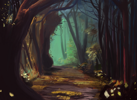 Woods by Crannynoko