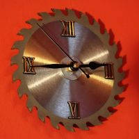 Saw Blade Wall Clock by Pinkabsinthe