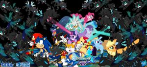 Sonic and My Little Pony : Fight to deaths by trungtranhaitrung