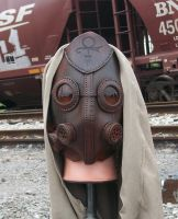 Apocalyptic Leather Mask Futuristic War by JoannaCorrinCoutures
