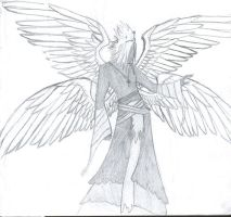 Four winged guy by Ambix777