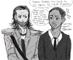 MIB meets Loki by ASAMESHII