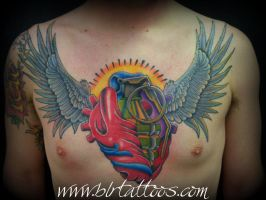 Chest Tattoo by blrtattoos