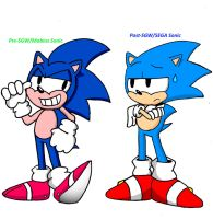 Both Sonic are Awesome by FrostTheHobidon