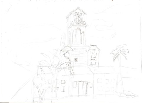 Cancelled Drawing - Clock Tower by LavenderRanger