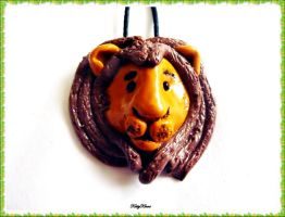 The Lion King Charm Necklace by Cateaclysmic