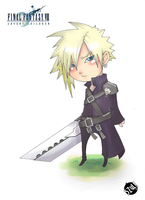 .:Chibi : Cloud:. by 5ZuL