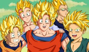 Super sayian family. by yleyn