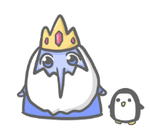 ice king and gunter by pinkbunnii