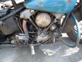 Classic Harley-Davidson Knucklehead Engine by Brooklyn47