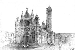 Siena Cathedral by Krystian0Wozniak