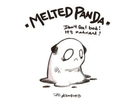 Melted Panda O3O by PsychedelicMind